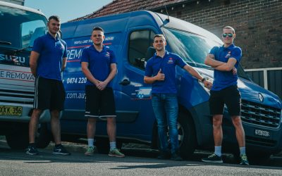 ABC Removals team in front of van